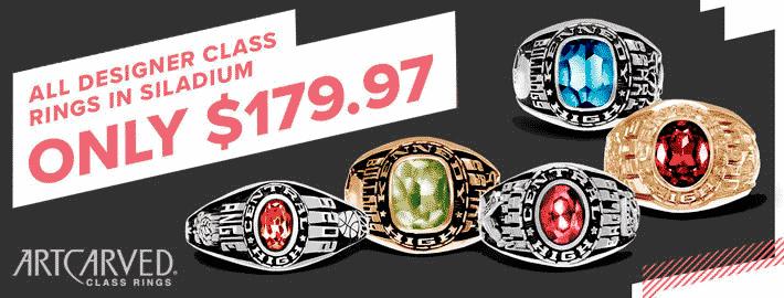 $179.97 Class Rings Graduation Sale