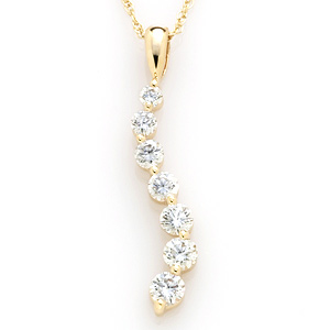 1 CT TW Journey Diamond Pendant with Chain
