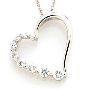 1/2 CT TW Journey Diamond Pendant with Chain