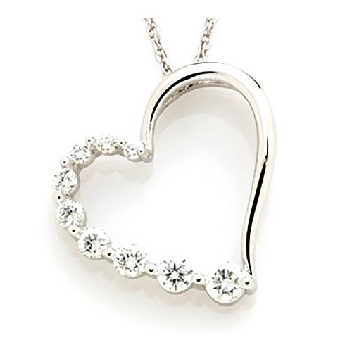 1/2 CT TW Journey Diamond Pendant with Chain