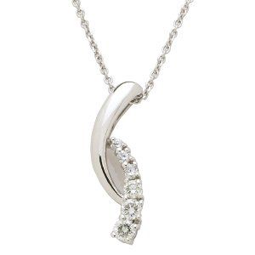 1/3 CT TW Journey Diamond Pendant with Chain
