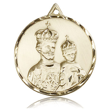 14kt Yellow Gold 1 3/8in St Joseph Medal