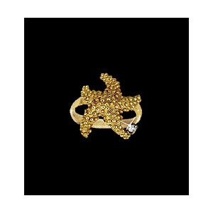 14KT Gold Starfish Ring with Diamond
