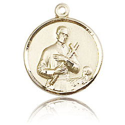 14kt Yellow Gold 5/8in St Gerard Medal