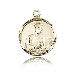 14kt Yellow Gold 5/8in St Jude Medal