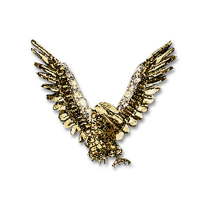 14KT Gold Eagle Victory Pendant with Diamond Pavé