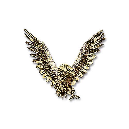 14KT Gold Eagle Victory Pendant with Diamond Pavé