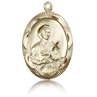 14k Yellow Gold 1in St Gerard Medal