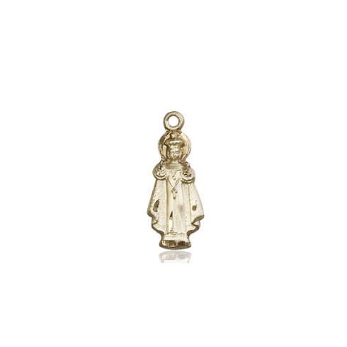 14kt Yellow Gold 3/4in Infant of Prague Figure Pendant