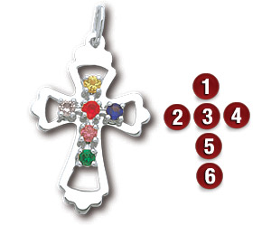 Sterling Silver Family Cross Pendant