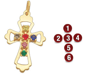 Family Cross Pendant