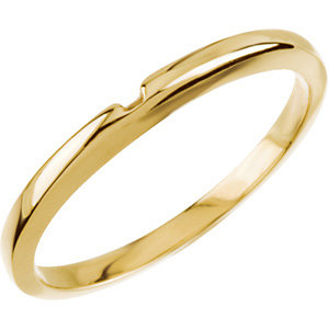 14k Yellow Gold Wedding Band for Solitaire No. 4
