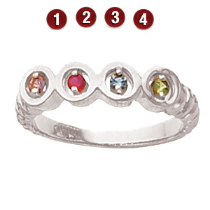 Family Coil Sterling Silver Mother's Ring