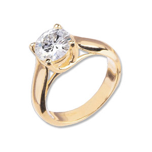 3/4 CT TW 14KY Moissanite Lucern Ring