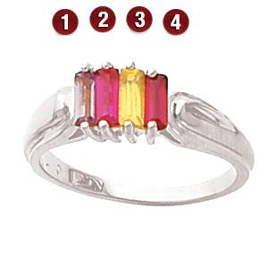 Piece de Elegance Sterling Silver Mother's Ring