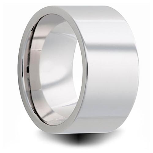 Cobalt 10mm Polished Pipe Cut Wedding Band