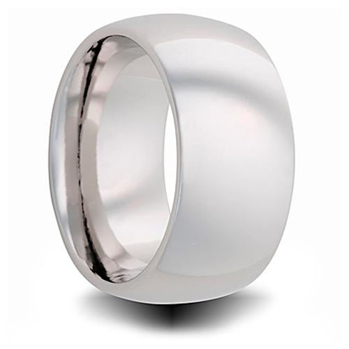 Cobalt 10mm Polished Domed Wedding Band