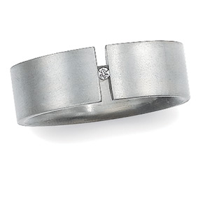 8mm Titanium Band with Diamond