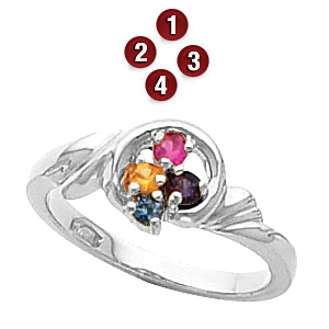 Magic Circle Sterling Silver Mother's Ring