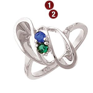 Spiral Dancer Sterling Silver Mother's Ring