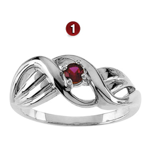Wrapped in Love Sterling Silver Mother's Ring