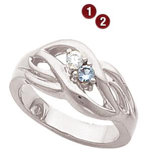 Loving Nest Sterling Silver Mother's Ring
