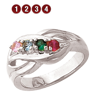 Loving Nest Sterling Silver Mother's Ring