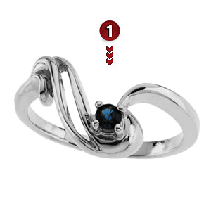 Family Symphony Sterling Silver Mother's Ring