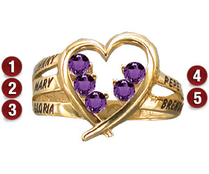 Family Heart Ring