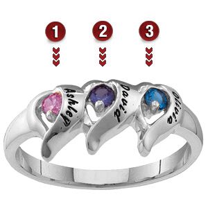 Sterling Silver Flames of Love Ring