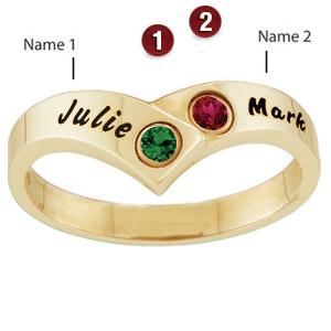 Family Twist Ring