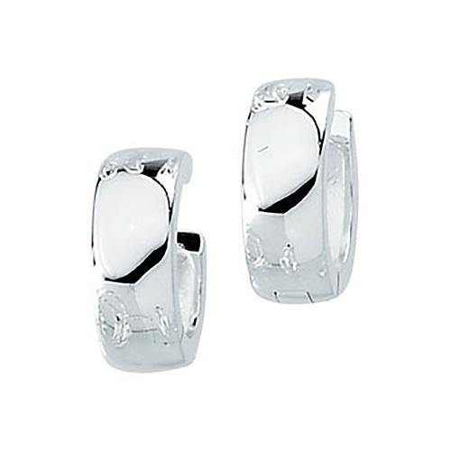 Sterling Silver 1/2in Huggie Earrings