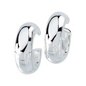 Sterling Silver 14mm Hinged Earrings