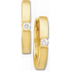 14kt Yellow Gold Hinged Hoop Earrings with Diamond Accents