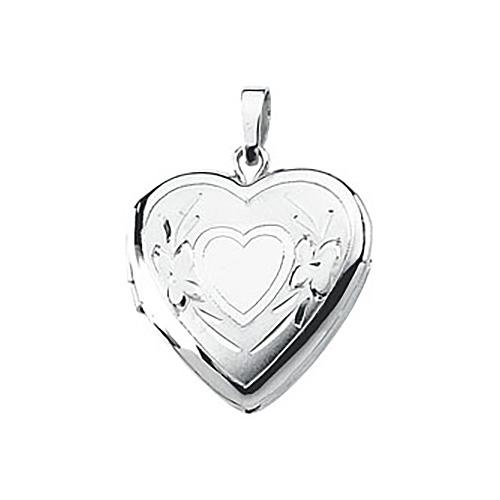 Heart Locket 5/8in - Sterling Silver