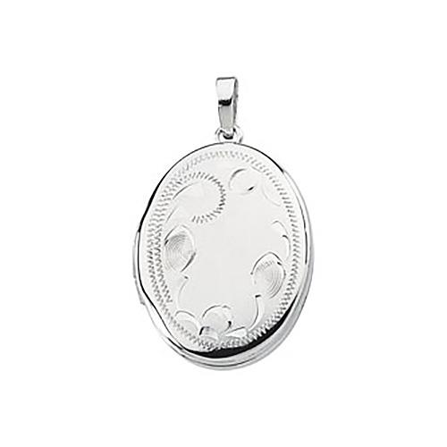 Oval Locket 7/8in - Sterling Silver