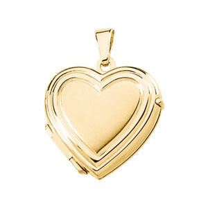 14kt Yellow Gold 11/16in Heart Locket