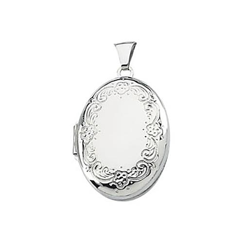 Oval Locket 1in - Sterling Silver