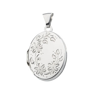 Oval Locket 13/16in - Sterling Silver