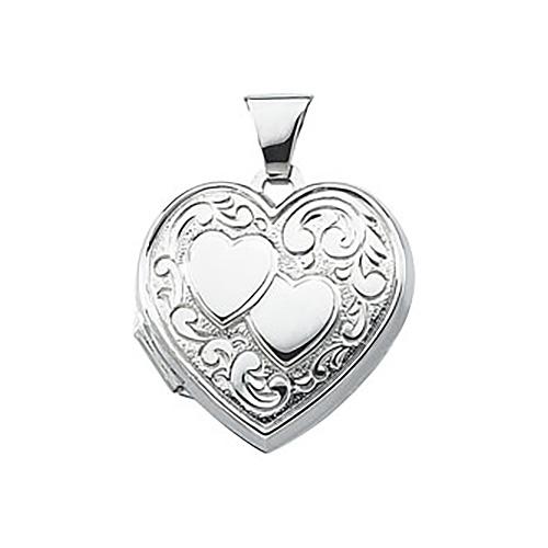 Heart Locket 3/4in - Sterling Silver