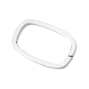 Sterling Silver Rectangle Key Ring