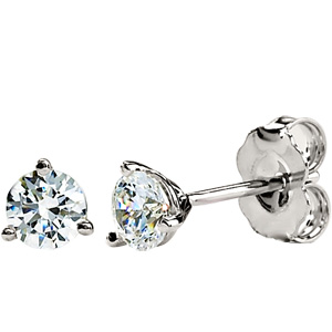 14kt White Gold 2.5 ct Moissanite Martini Earrings
