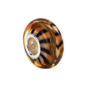 Kera Tiger Print Murano Glass Bead