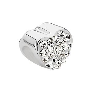 Kera Heart Bead With Pavé Crystals