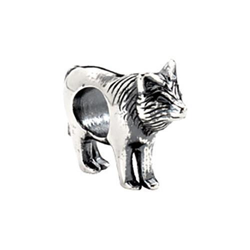 Sterling Silver Kera Wolf Bead
