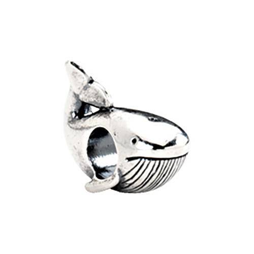 Sterling Silver Kera Whale Bead