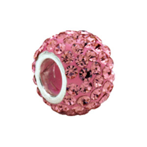 Kera Bead With  Pavé Rose Crystals