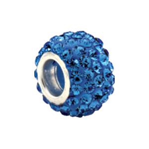 Kera  Bead With Pavé Light Sapphire Crystals