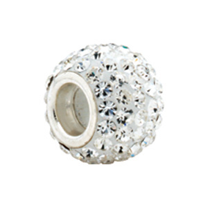 Kera Bead With Pavé Crystals