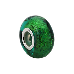Kera Gold And Green Murano Glass Bead